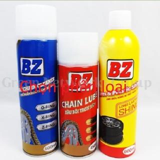[Quẹo Lựa]combo xịt dưỡng sên BZ kết hợp rửa sên và chai xịt phục hồi nhựa nhám dưỡng nhựa đen và lốp mua 1 chai, 2 chai hoặc 3 chai thumbnail