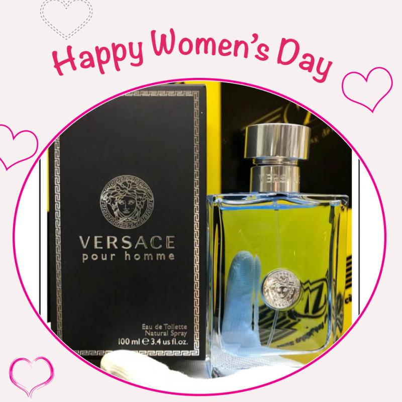 Nước hoa chính hãng hiệu Versace Pour Homme, mùi nam nhưng nữ sứt được, 100ml, eau de toilette, sản xuất tại Ý