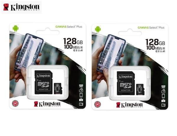 Thẻ nhớ Kingston microSD Canvas Select Plus 128GB - Hàng Chính Hãng