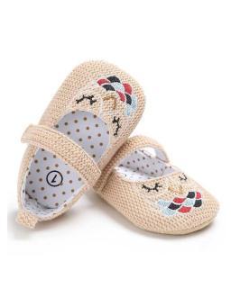 Giày tập đi thêu hình con cú có quai cài cho bé gái BBShine TD9 thumbnail