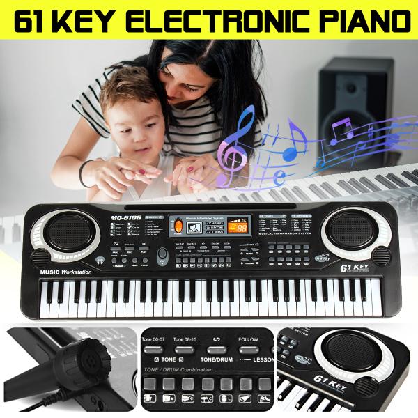 ĐÀN PIANO ĐIỆN TỬ 61 PHÍM ĐÀN PIANO CHO NGƯỜI MỚI HỌC ĐÀN - THIẾT KẾ MỚI - CHẤT LƯỢNG CAO -  phím cực nhạy, âm thanh lớn ( BẢO HÀNH 1 ĐỔI 1 )