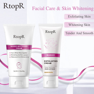 RtopR Chăm sóc da phát sáng Paket Skincare Kem tẩy tế bào chết 40g làm sạch da mặt. loại bỏ mụn đầu đen dưỡng da mặt giá siêu tốt+ Kem chiết xuất xoài không nhờn dưỡng ẩm tái tạo làm trắng da dùng cho mặt và toàn thân thumbnail