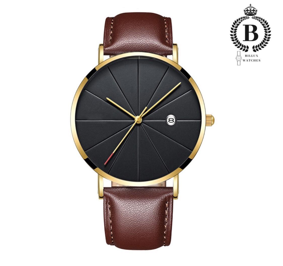 Đồng hồ Nam MVT thời trang công sở [Billux] dây da - 38mm (3 màu) [MVTMT001] bán chạy