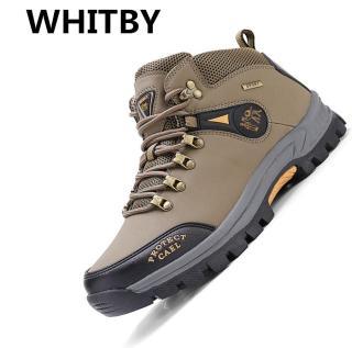 Brand WHITBY Giày Đi Bộ Ngoài Trời Giày Thể Thao Nam Giày Nam Chống Nước Cắm Trại Giày Đi Bộ Đi Phượt thumbnail