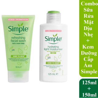 Combo Simple Sữa Rửa Mặt Refreshing 150ml + Kem Dưỡng Ẩm Light Moisturiser 125ml thumbnail