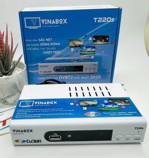 [HCM]VINABOX T220S ĐẦU KTS DVB T2 THẾ HỆ MỚI 2020 XEM TRUYỀN HÌNH MIỄN PHÍ TỚI 78 KÊNH BẢO HÀNH CHÍNH HÃNG 12 THÁNG thumbnail