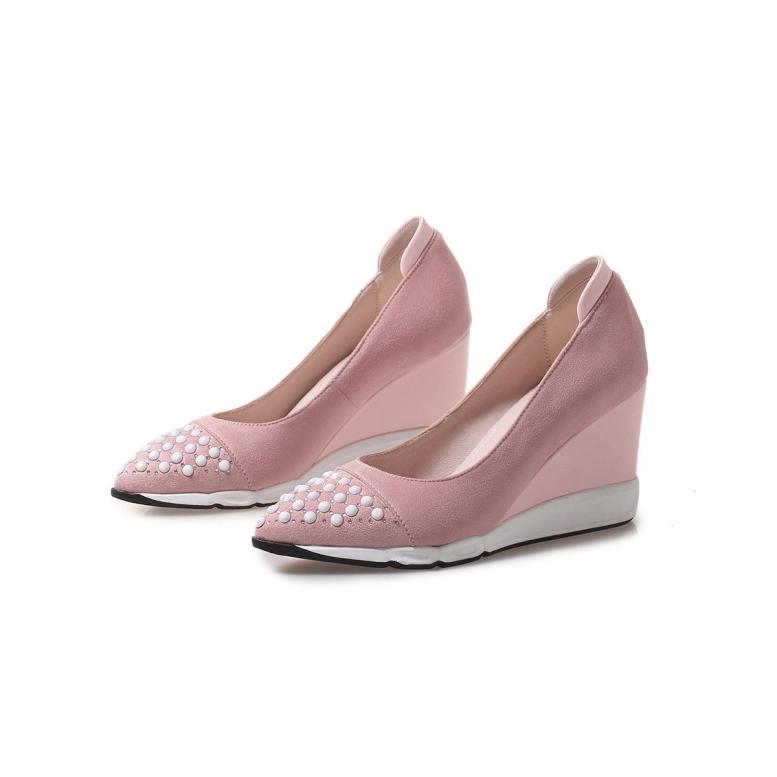 Đế Xuồng Giày Nữ 2020 Mùa Xuân Và Mùa Thu Mẫu Mới Giầy Nữ Đầu Nhọn Đế Dày Giầy Cao Gót Mũi Nông Giày Nữ Một Giày Lười Giày Độn Đế giá rẻ