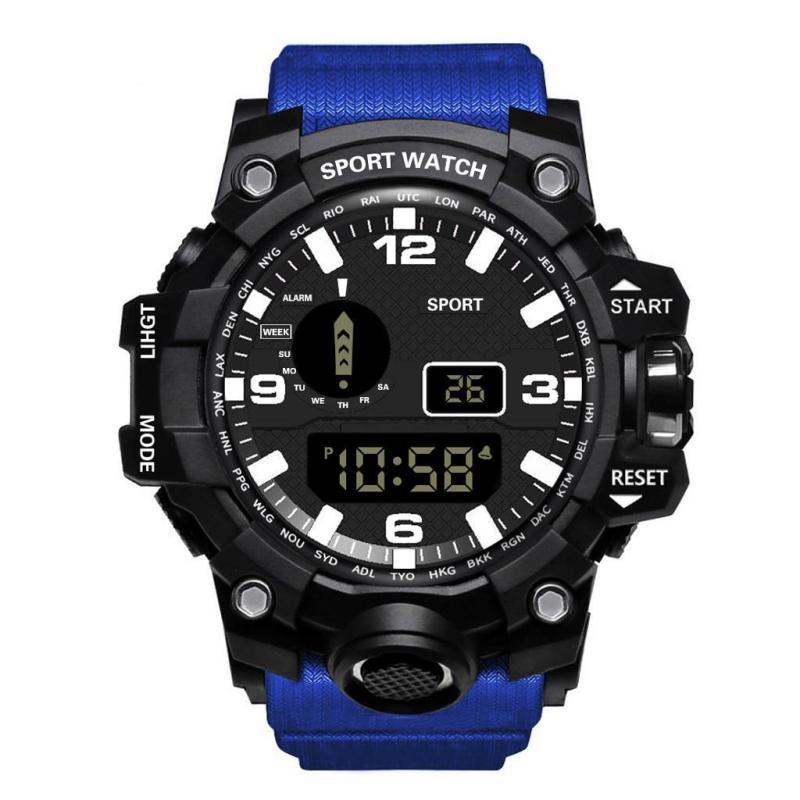 Đồng hồ điện tử nam Sport dáng thể thao chạy màn hinh điện tử đa chức năng siêu chống nước