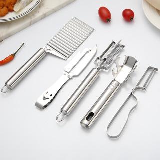 [DEAL GIẢM] Bộ 5 dụng cụ cắt sóng, bào, gọt rau củ quả siêu tiện lợi bằng inox. Bộ dụng cụ 5 chi tiết inox cắt gọt thumbnail