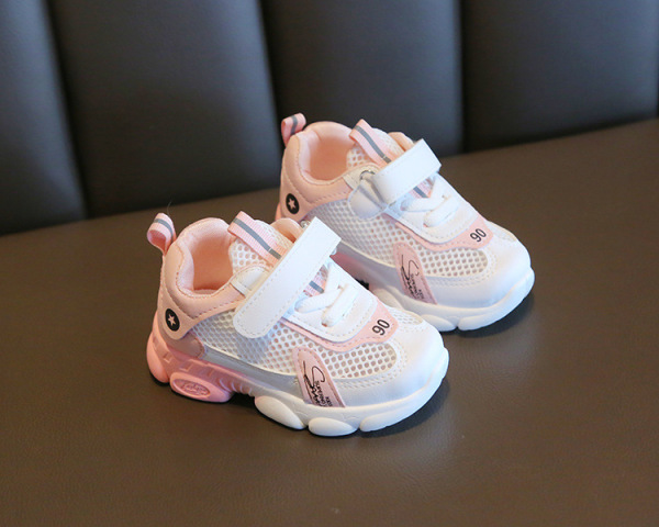 Giá bán Giày trẻ em màu hồng đẹp cao cấp siêu bền, siêu thoáng khí dành cho bé gái 1-7 tuổi