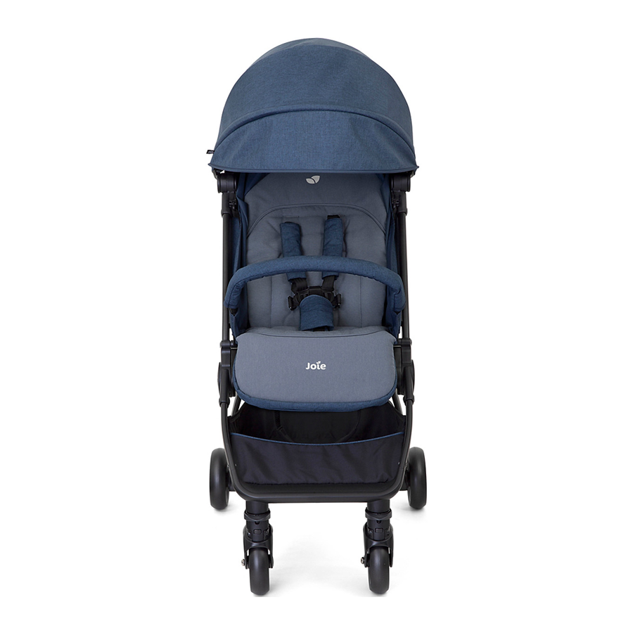 Xe đẩy trẻ em Joie Pact Navy Blazer 2 vị trí ngả chân cho bé sự thoải mái, hai bánh trước xoay tự động điều hướng, hệ thống giảm xóc