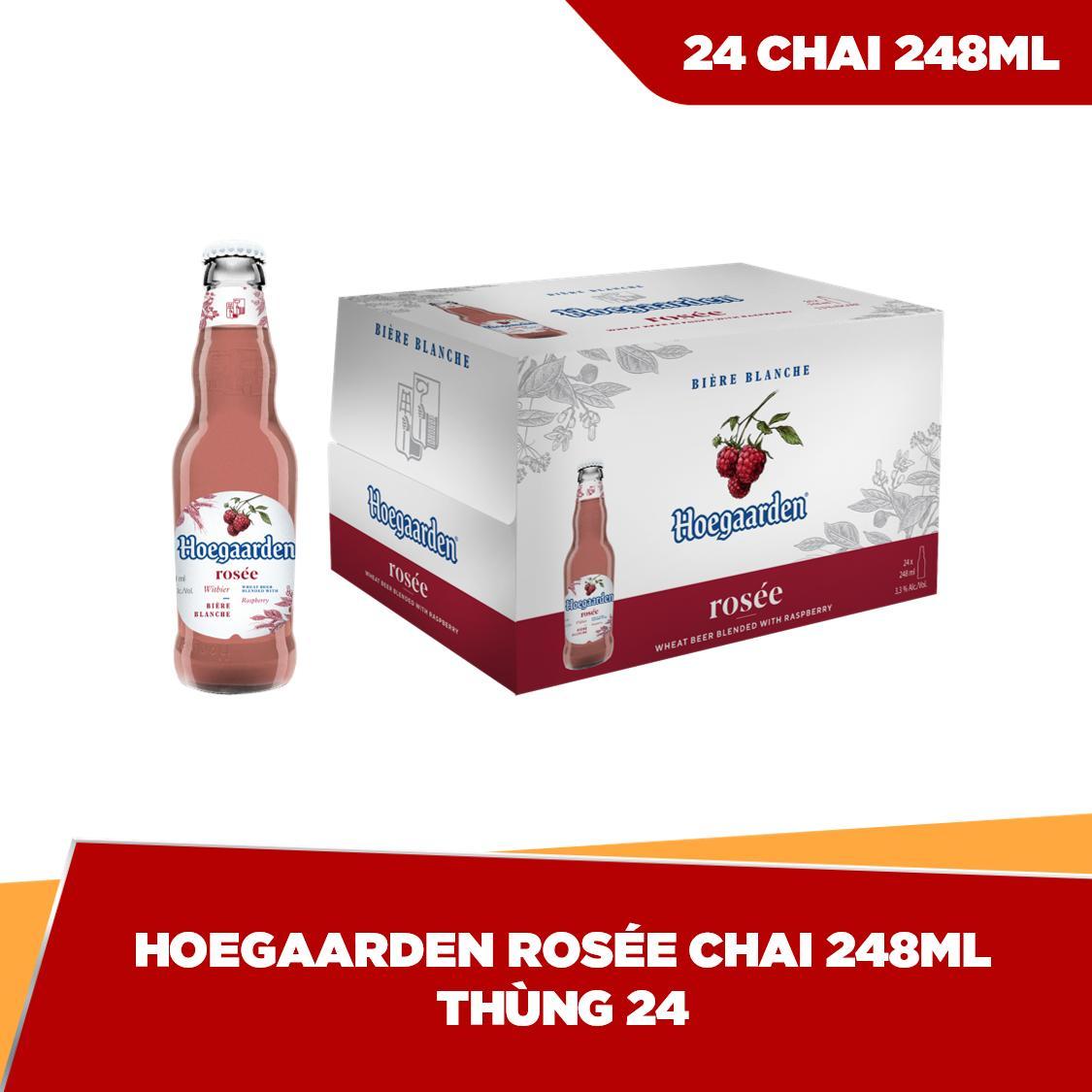 Coupon tại Lazada cho Hoegaarden Rosée Chai 248ml - Thùng 24