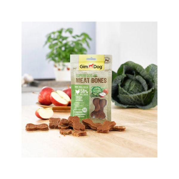 Gimdog Superfood Meat Bones Chicken With Apple and Cabbag- Snack Thịt Gà+Táo+ Bắp Cải