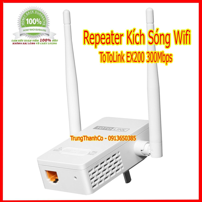 Giá Repeater Kích Sóng Wifi ToToLink EX200 300Mbps