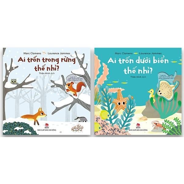 Combo Sách Ai Trốn Dưới Biển Thế Nhỉ + Ai Trốn Trong Rừng Thế Nhỉ (2 Cuốn)