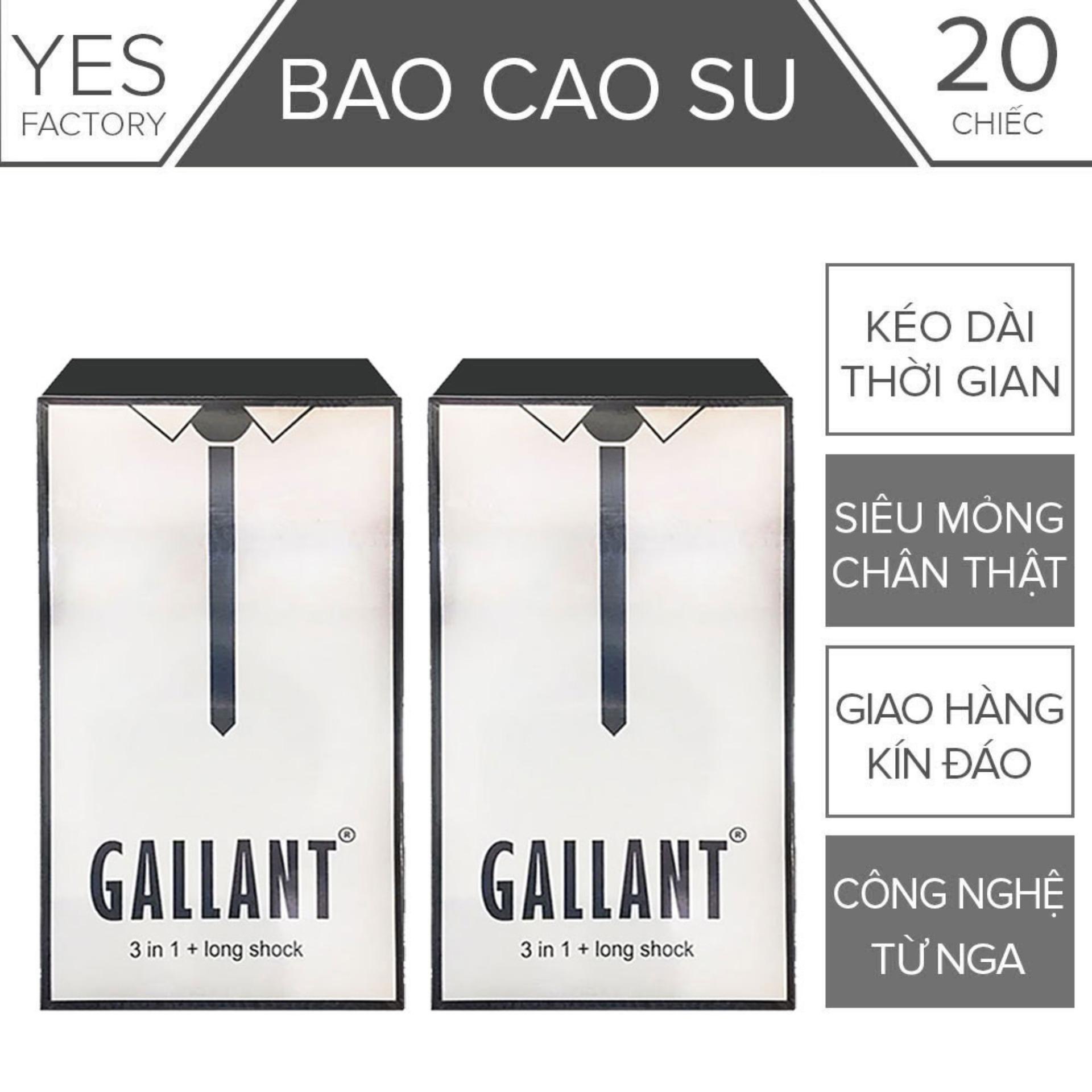 Bộ 2 (20 chiếc) Bao Cao Su Nga Gallant Kéo Dài Thời Gian Quan Hệ 4 trong 1- YesShop cao cấp