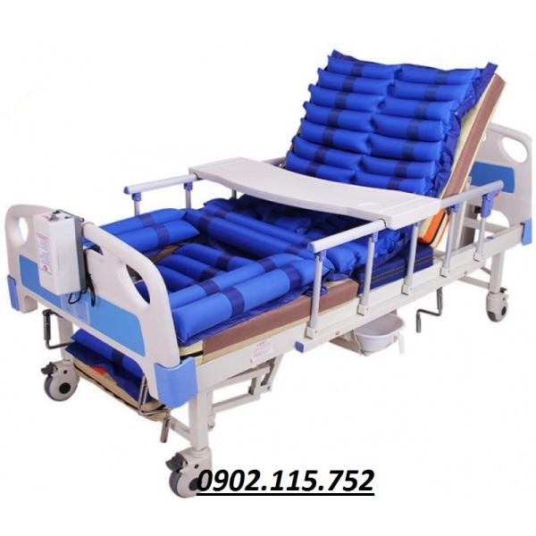 Giường inox y tế Giường bệnh đa năng 4 tay quay hạ chân góc nhỏ HL5