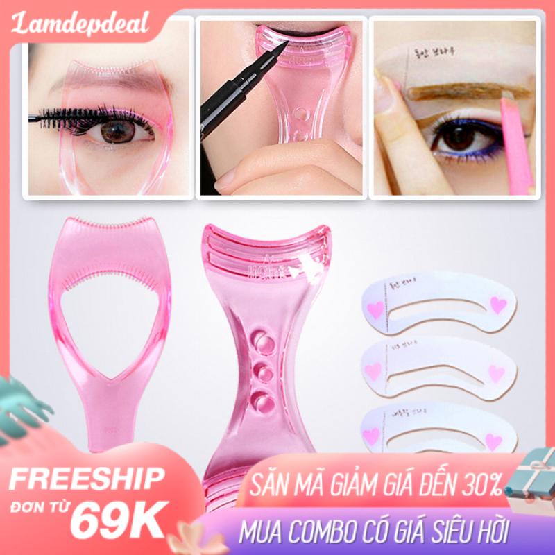 Lamdepdeal - Combo 3 dụng cụ hỗ trợ trang điểm cho mắt - Bộ combo đầy đủ hoàn hảo cho bạn gái - Dụng cụ trang điểm.