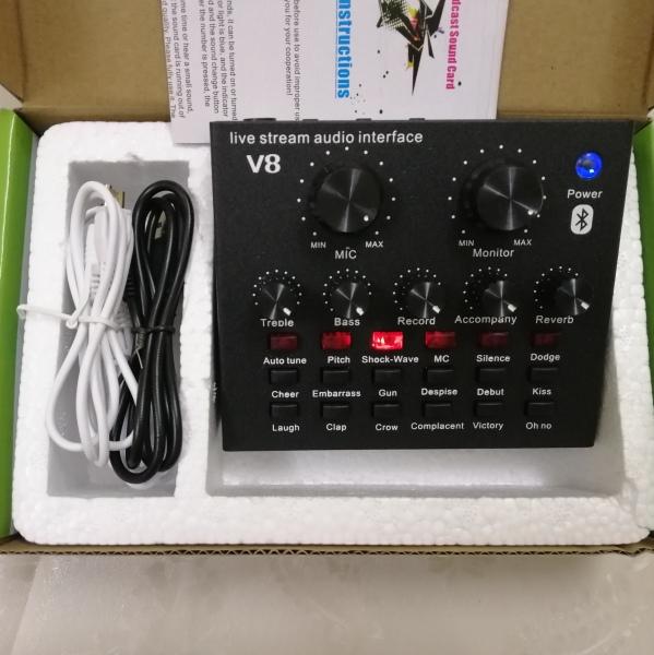 Bảng giá Bộ sound card thu âm v8 có autotune chất lượng cao, hỗ trợ live stream, karaoke, thu âm, chính hãng giá rẻ bảo hành 12 tháng Phong Vũ
