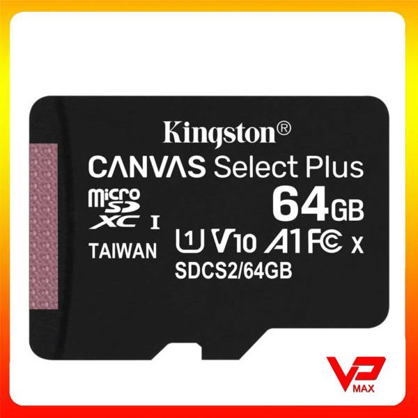 [Chính hãng] Thẻ nhớ microSDHC Kingston Canvas Select Plus 32GB 64GB tốc độ cao 100MB/s - Không Adapter - vpmax