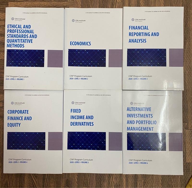 Bộ sách 6 quyển CFA level 1 - 2020 ( sách gia công như hình)