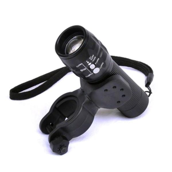 Kẹp đèn pin cho xe đạp, xoay 360 độ giá rẻ