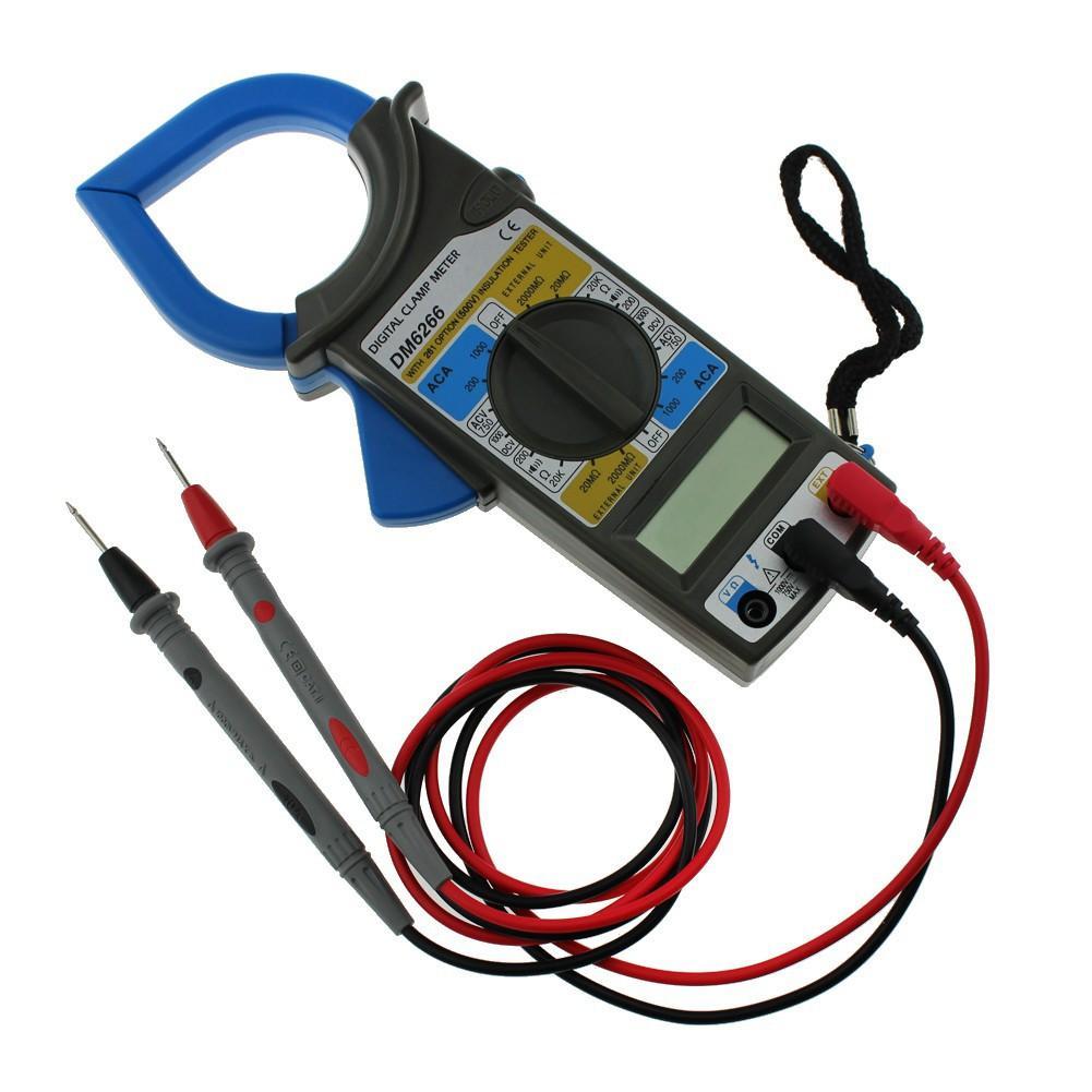 Đồng hồ Ampe kìm kẹp vạn năng DM-6266 kèm pin
