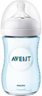 Bình sữa Avent Natural cải tiến núm ti siêu mềm màu Xanh dương - Hồng dung tích 260ml (bình tách set) thumbnail