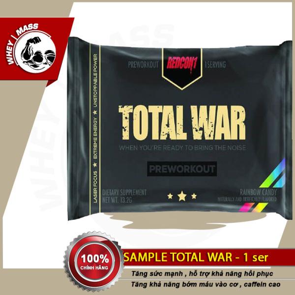 Gói Dùng Thử Tăng Sức Mạnh Tập Luyện Thể Thao Total War 1 lần dùng Redcon1 - Chính Hãng 100% -Từ Mỹ