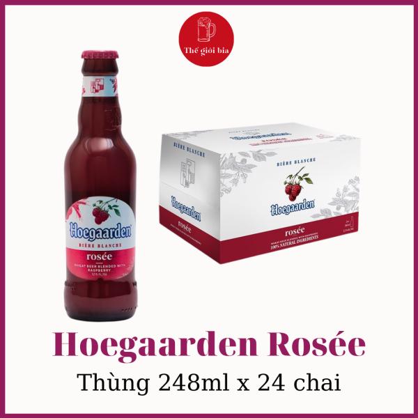 Bia Hoegaarden Rosée 248ml x 24 chai   Chính hãng