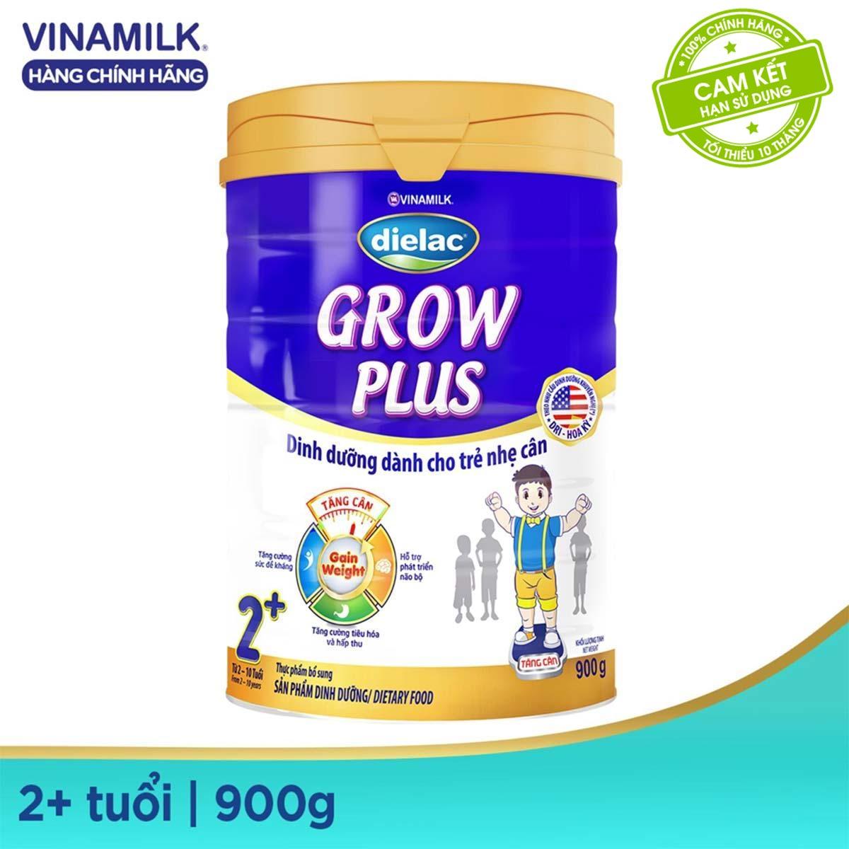 Giảm Giá Khi Mua cho [Freeship HCM & HN] Sữa Bột Dielac Grow Plus 2+ (Màu Xanh) - Hộp Thiếc 900g - Dành Cho Bé 2 Tuổi Trở Lên