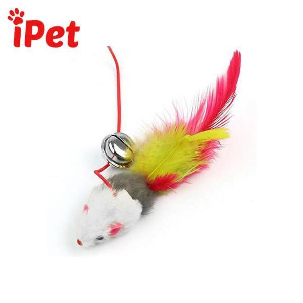 Đồ chơi cần câu chuột lục lạc cho mèo - iPet Shop
