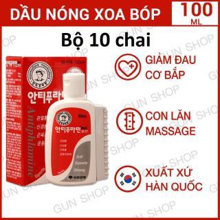 Combo 10 Dầu nóng Hàn Quốc Antiphlamine - Xoa bóp nhức mỏi 100ml thumbnail