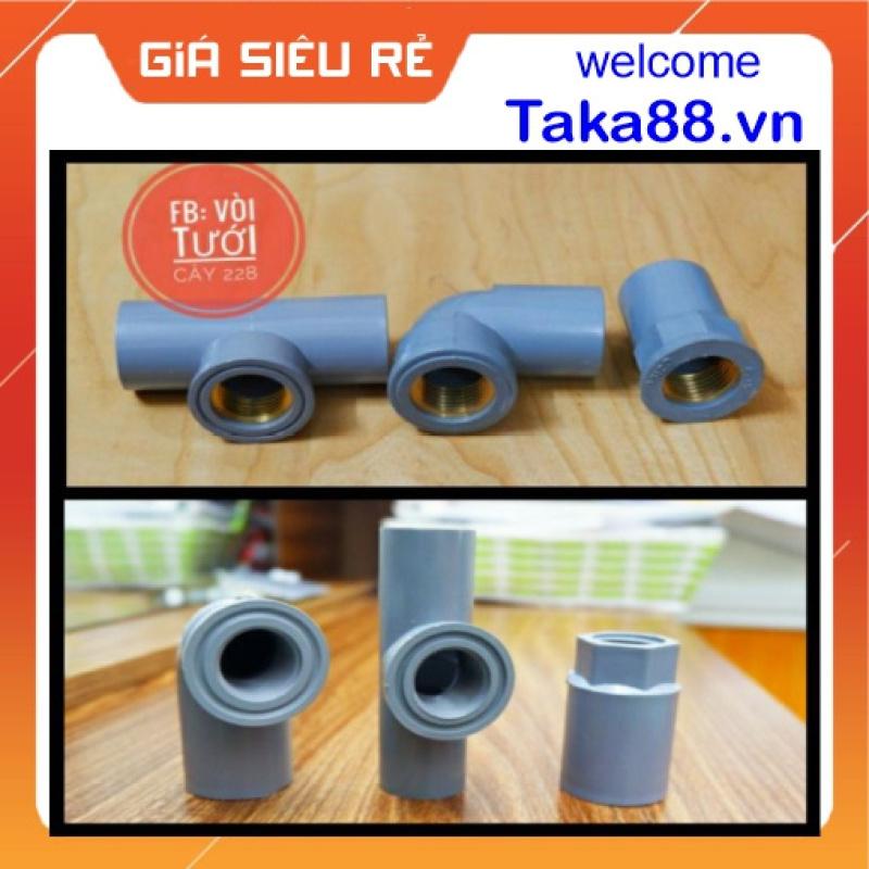 Cút Co Góc Tê Nối Răng Ren Trong. Cỡ 21, 27 Nhựa PVC