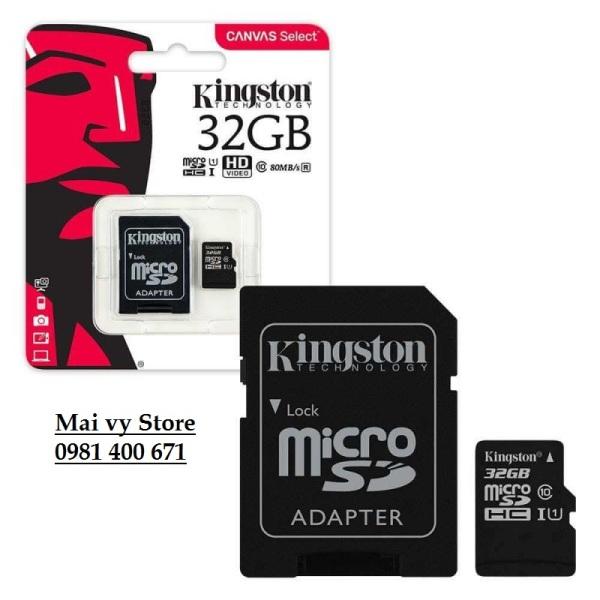 THẺ NHỚ CLASS 10 - 32G KINGSTON - FULL BOX + ADAPTER
