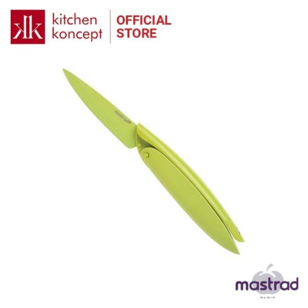 Dao gọt cao cấp MASTRAD màu xanh lá dễ gấp gọn để đem đi du lịch hoặc với gia đình