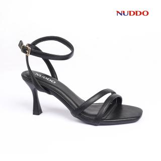 Giày sandal cao gót nữ quai ngang mảnh Nuddo 7cm gót đế nhọn kiểu dáng thời trang thumbnail