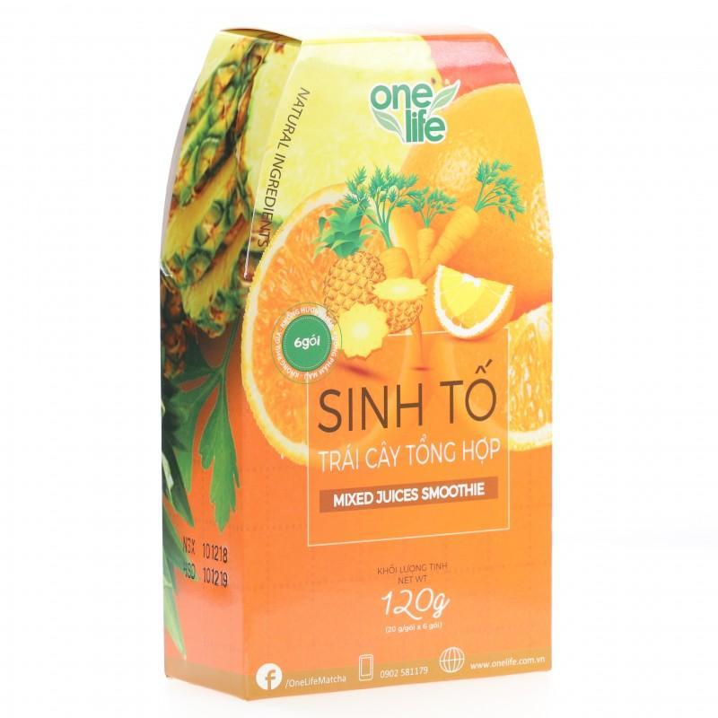 Bột sinh tố trái cây tổng hợp Onelife hộp 120g