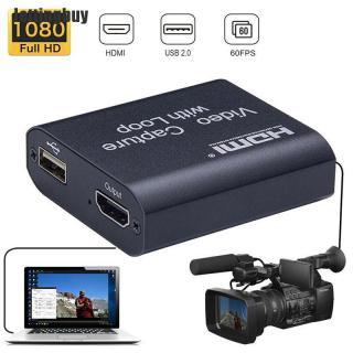 Jettingbuy Thẻ Quay Video 1080P 4K HDMI Sang USB 2.0 Dongle Ghi Âm Trò Chơi Phát Sóng Trực Tiếp thumbnail