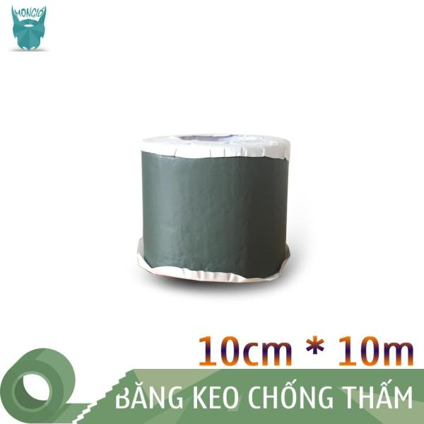 10cm x 10m - Băng keo dán bạt HDPE chống thấm nước, dán mái - 10cm x 10m (Màu XANH LỤC)