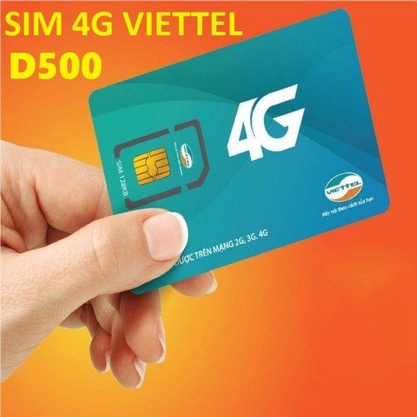 (Rẻ Vô Đối) Sim Dcom 4G Viettel D500 Trọn Gói 1 Năm Dùng Mạng Miễn Phí