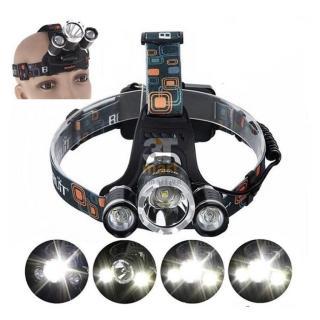 Đèn bin đội đầu, Đèn pin sạc đeo đầu, đèn đeo trán siêu sáng đèn pin đội đầu chống nước. Đèn pin đội đầu 3 bóng LED Cree T6 Đèn đeo đầu 3 bóng Công nghệ Cực HOT hiện nay - Bảo Hành 1 Đổi 1 - TẶNG KÈM PIN SẠC. thumbnail