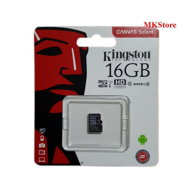 Thẻ nhớ Kingston Canvas Select 16Gb Micro SDHC Class 10 80Mb/s