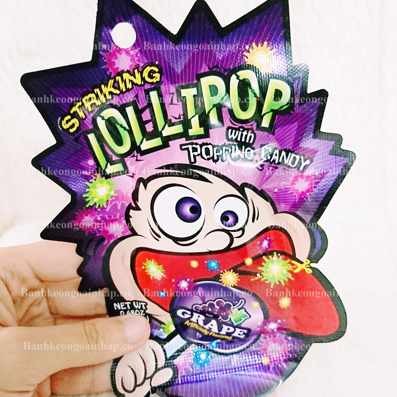 Kẹo Mút Nổ Striking Lollipop With Popping Candy
