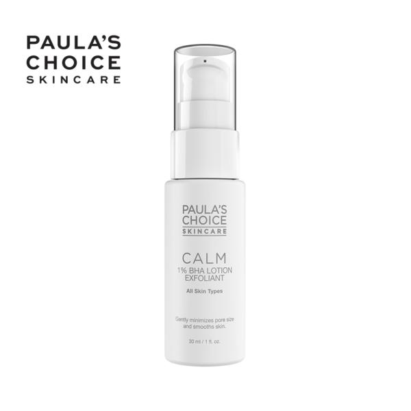 Loại bỏ tế bào chết dịu nhẹ Paulas Choice CALM Redness Relief 1% BHA Lotion Exfoliant trial 9107