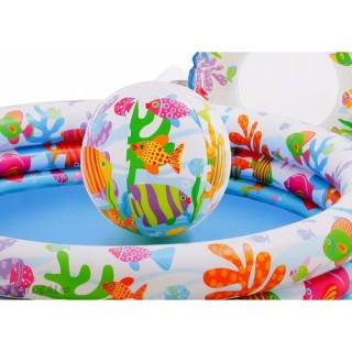 Bể Bơi Phao 3 Chi TIết Kèm Bóng Và Phao Bơi Cho Bé - Bể phao cầu vòng kèm bóng và phao - đồ dùng sinh hoạt cho bé - đồ chơi vận động cho bé - hồ phao cao cấp - đồ chơi cho bé ngày hè - hồ chứa nước - đồ dùng sân vườn - phát triển trí tuệ 2
