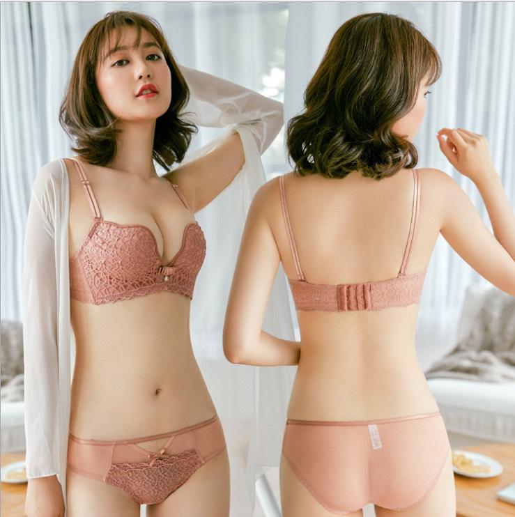 Bộ đồ lót ren không gọng nâng ngực cao cấp - Shop đồ lót xinh