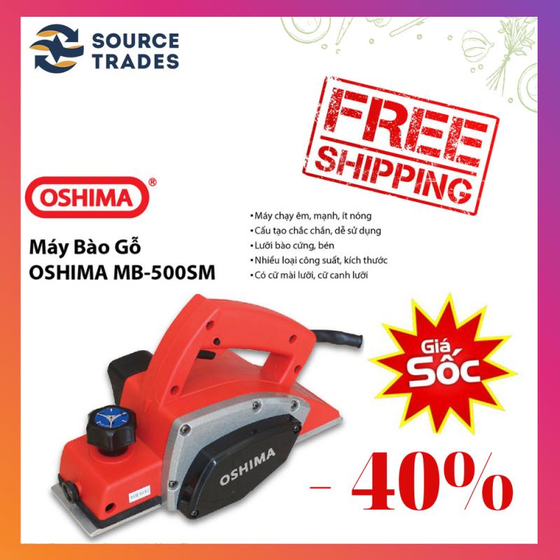 [XẢ KHO-FREESHIP]Máy bào gỗ cầm tay Oshima MB 500SM (Đỏ đen)