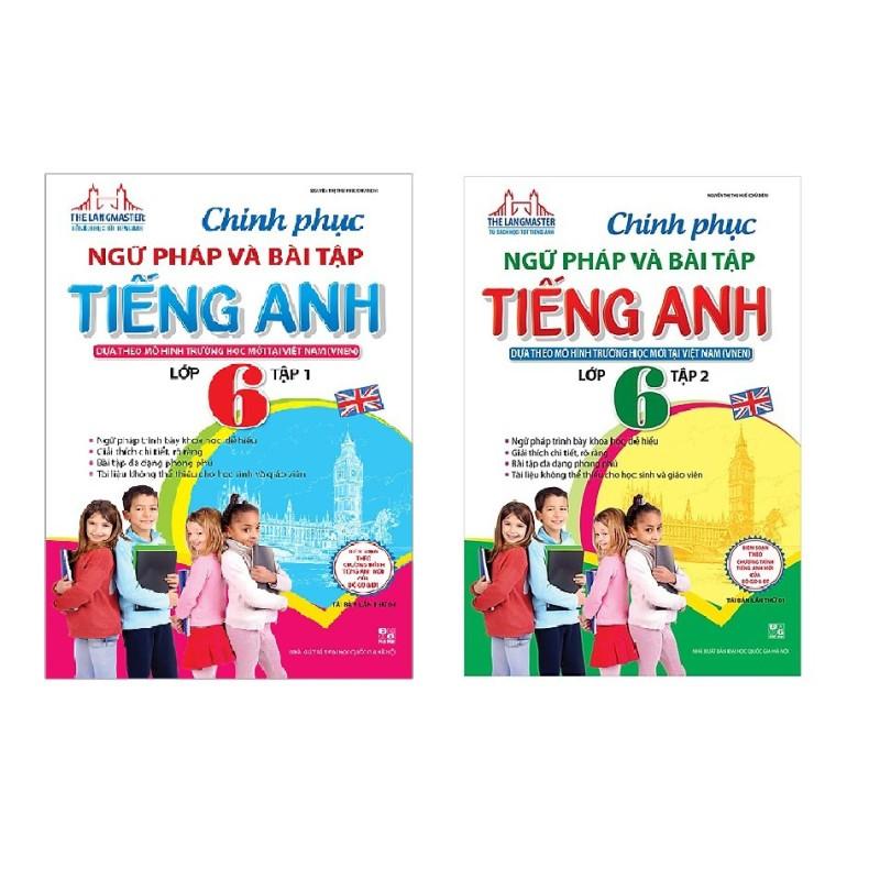 Sách - Combo Chinh Phục Ngữ Pháp Và Bài Tập Tiếng Anh Lớp 6 tập 1 + tập 2 - Mhbooks