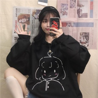 Áo hoodie nữ in hình cô gái siêu đáng yêu , áo khoác nữ mùa đông siêu xinh , chất nỉ dày dặn, form rộng đủ màu thumbnail